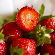 Stock Photo: Strawberry on white