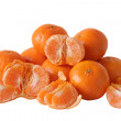 Tangerines on white - Stock Photo