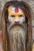 Sadhu Holy Man Kathmandu Nepal — Stock Photo