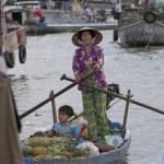Постер, плакат: Can Tho Market Mekong Delta Vietnam