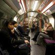 London Underground Tube Commuters — Stock Photo