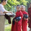 Novice Monks Myanmar — Stock Photo #8276533