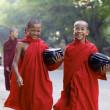 Stock Photo: Novice Monks Myanmar