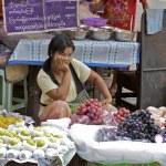 Street Market Vendors Yangon Myanmar — Stock Photo #8276575