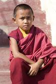 Začínající mnich nepál — Stock fotografie