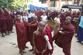 Novice Monks Myanmar — 图库照片