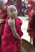 Novice Monk Myanmar — Stock Photo