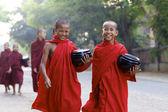 Novice Monks Myanmar — Stock Photo