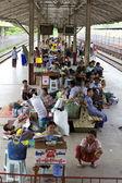 Yangon, Myanmar Train Station Passengers — Stock Photo