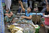 Street Vendor Myanmar — Stock Photo