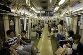 Transporte de massa metro de Tóquio — Fotografia Stock