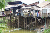 Cambodia House by River — Stock Photo