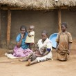 Uganda Family — Stock Photo