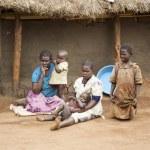 Uganda aile — Stok fotoğraf