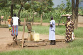 Uganda Water Well Pump — Stock Photo