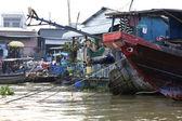 плавающая houseboat меконг дельта вьетнам — Стоковое фото
