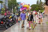 Vietnamese Street Balloon Vendor — Foto Stock