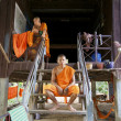 Monks at home in Cambodia — Stock Photo
