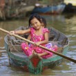 Stock Photo: CambodiChildren Tonle Sap Lake