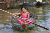 Cambodian Children Tonle Sap Lake — Stock Photo