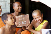 Young Buddhist Monks in Cambodia — Stock Photo