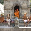 Sadhu Holy Men Kathmandu Nepal — Stock Photo #9942786