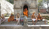 Sadhu Holy Men Kathmandu Nepal — Stock Photo