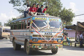 Overcrowded Bus in Kathmandu — Stock Photo
