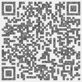Drawing of a qr code — Stock Photo