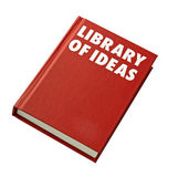 Red hardback book cover isolated — Stock Photo