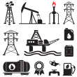 Oil, gas, electricity symbols — Stock Vector #10197867
