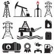 Oil, gas, electricity symbols — Stock Vector
