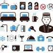 Hotel icons set — Vettoriale Stock #10197870