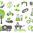 Green planet symbols — Stock Vector #10197896