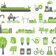 Stock Vector: Green energy symbols
