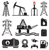 Oil, gas, electricity symbols — Stock Vector