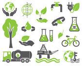 Green planet symbols — Stock Vector