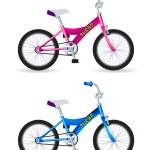 Kids bikes — Stock Vector #8405106
