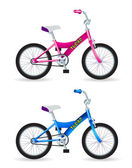 Kids bikes — Stock Vector