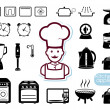 Kitchen appliances set — Stockvectorbeeld
