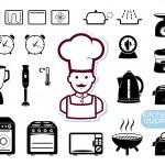 Кухни комплект приборов — Cтоковый вектор