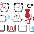 Royalty-Free Stock Vector Image: Cooking modes and settings icons