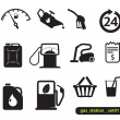 Stock Vector: Gas station icons