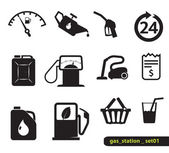Gas station pictogrammen — Stockvector