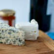 Stock Photo: Blue cheese and feta