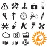 Car mechanic icons — Stock Vector