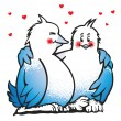 Vector de stock : Two birds in love