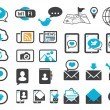 Modern communication icons - Stok Vektör
