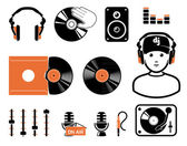 DJ`s set — Stock Vector