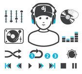 DJ`s set — Stock Vector